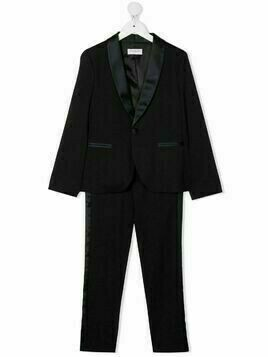 Paolo Pecora Kids single-breasted two-piece suit - Blue