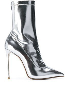 Le Silla Eva mirror effect ankle boot - Silver