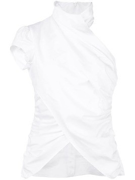 Beaufille twisted neck blouse - White