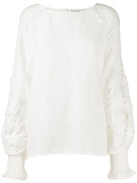 Essentiel Antwerp floral embroidered blouse - White