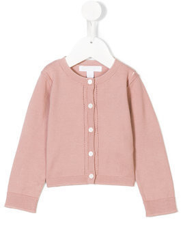 Burberry Kids classic knitted cardigan - Pink & Purple