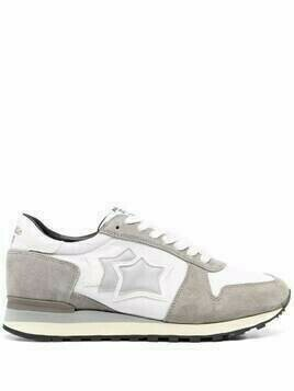 Atlantic Stars Argo suede panelled trainers - White