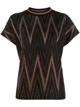 M Missoni zig zag pattern T-shirt - Black