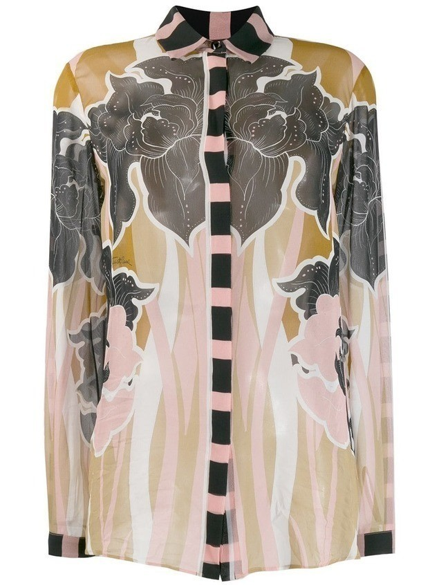 Just Cavalli printed long sleeve shirt - NEUTRALS