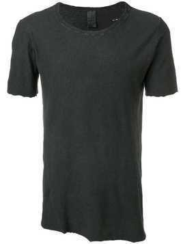 10Sei0otto raw edge T-shirt - Black