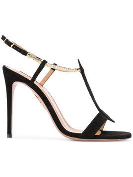 Aquazzura leather sandal - Black