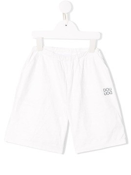 Douuod Kids logo print shorts - White