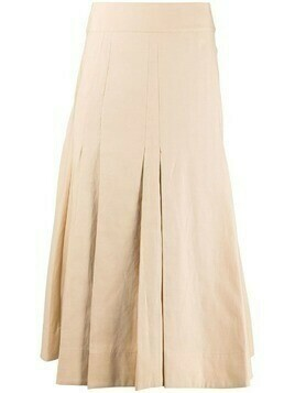 3.1 Phillip Lim a-line pleated skirt - Neutrals