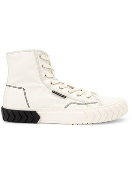 Both hi-top sneakers - White