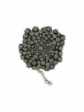 Rochas beaded flower brooch - Black