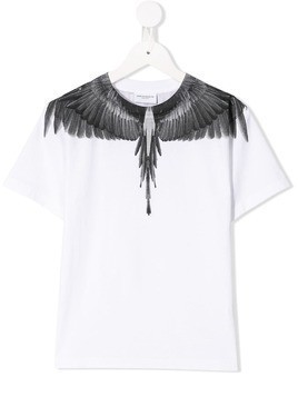 Marcelo Burlon County Of Milan Kids wings print T-shirt - White