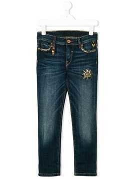 Lapin House jewel embellished jeans - Blue