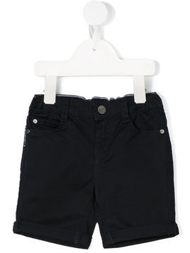 Emporio Armani Kids classic denim shorts - Blue