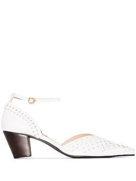 Reike Nen woven stacked-heel pumps - White
