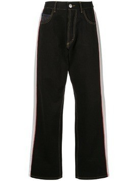 Koché side stripe jeans - Black