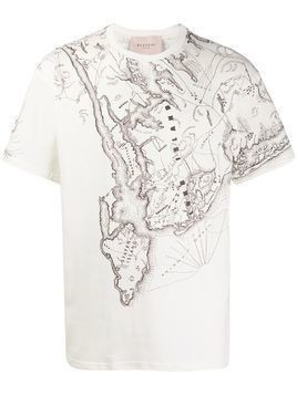Buscemi map print T-shirt - NEUTRALS
