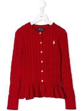 Ralph Lauren Kids cable knit cardigan - Red