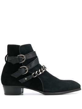 Lidfort chain-embellished ankle boots - Black