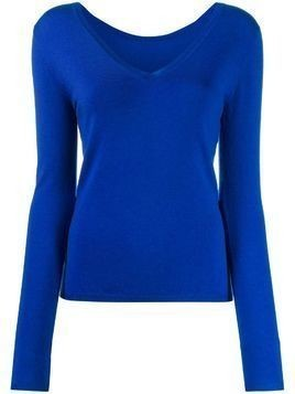 P.A.R.O.S.H. long-sleeve fitted top - Blue