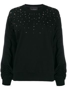 John Richmond stud-embellished loose-fit sweatshirt - Black