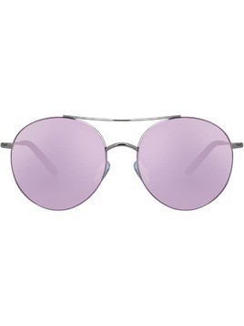 Matthew Williamson round frame sunglasses - Silver