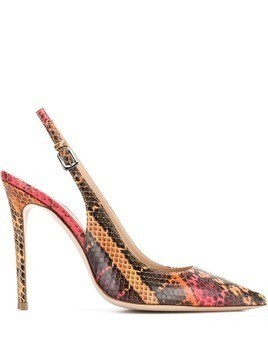 Deimille slingback snake effect pumps - Red