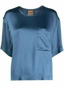 Nude chest patch pocket T-shirt - Blue