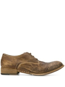 Artselab distressed effect Derby shoes - Brown