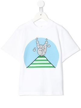 Stella McCartney Kids vulcano-print T-shirt - White