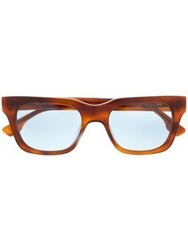 Le Specs Fellini rectangular frame sunglasses - Red