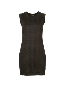 Fendi Vintage Zucca pattern short dress - Brown