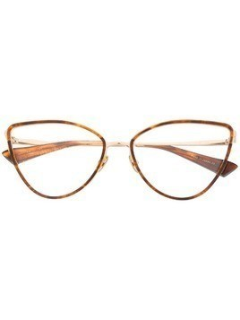 Christian Roth classic cat-eye glasses - Brown
