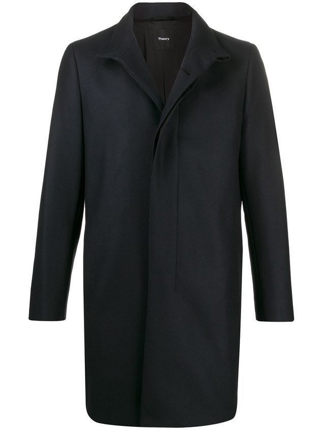 Theory Belvil single breasted coat - Blue
