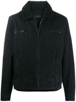 John Varvatos stitching detail bomber jacket - Black