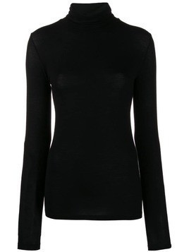 Stefano Mortari turtle-neck fitted top - Black