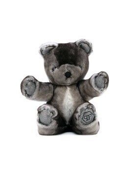 Philipp Plein Junior embellished teddy bear - Grey