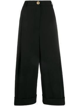 Escada wide-leg cropped tailored trousers - Black