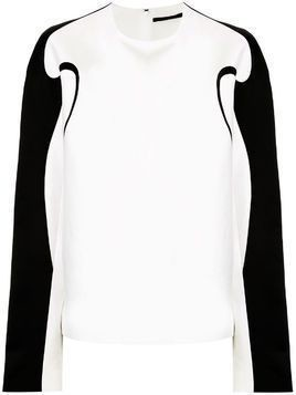 Haider Ackermann boxy fit contrast piping top - White