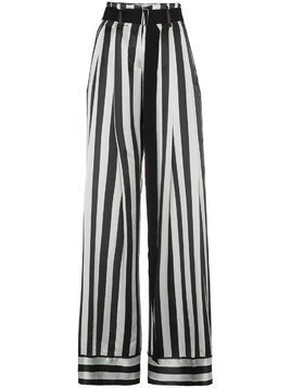 Ann Demeulemeester striped palazzo pants - Green