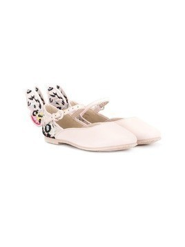 Sophia Webster Mini Rainbow Butterfly ballerina shoes - PINK