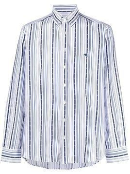Etro embroidered striped shirt - Blue