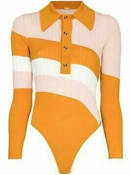 Dodo Bar Or Hera colour-block bodysuit - Orange
