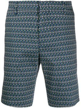 Paul Smith geometric print bermuda shorts - Blue