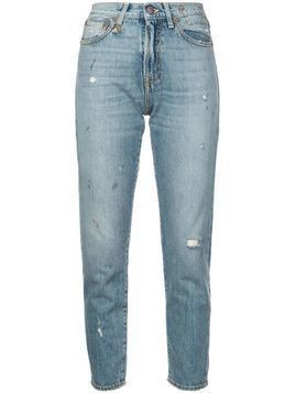 R13 distressed girlfriend jeans - Blue