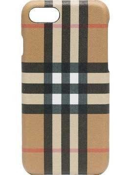 Burberry Check Printed Iphone 8 Case - Nude & Neutrals