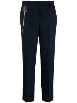 Ermanno Scervino straight-leg chain detail trousers - Blue