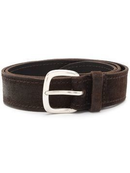 Orciani classic stitch detail belt - Brown