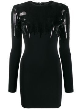 David Koma sequinned mini dress - Black