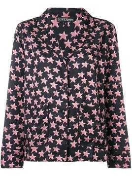 Love Stories star print pyjama top - Black