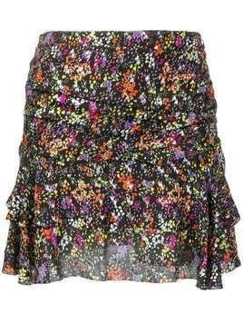 Derek Lam 10 Crosby floral flounce mini skirt - Black